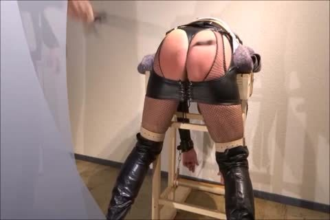 Crossdresser thrashing