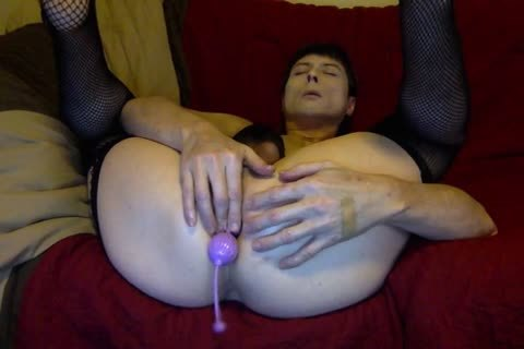 tasty Tasha Takes 2 Lilac Balls In The wazoo cunt Crossdresser