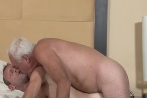 Hung Daddy bare bonks His friend