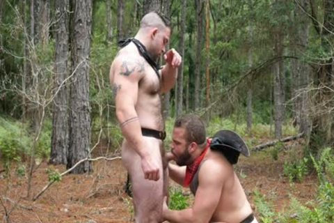 Two sexy Muscle Males In The Woods