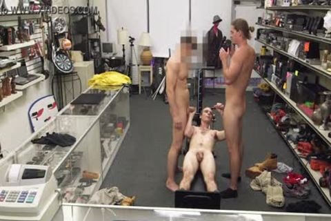gay PAWN - Fitness Trainer gets butt gangbanged By Two Employees