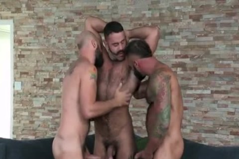 Filming A three-some With Two beefy Tourists