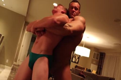 Muscle stud Dominating petite boy