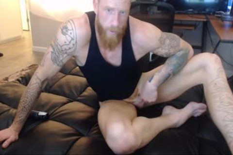 str8 Ginger stud Spanked On cam