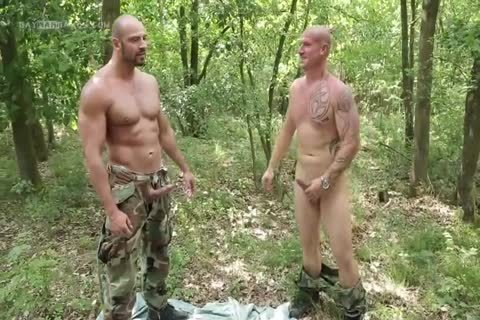 lad Hard Barefucked By two Soldiers