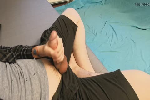 Working On His Rock 8 Inch Hard cock
