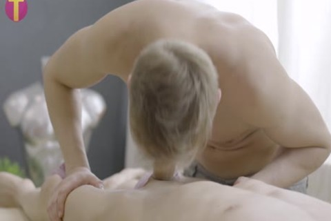 A peculiar twink Oil Massage