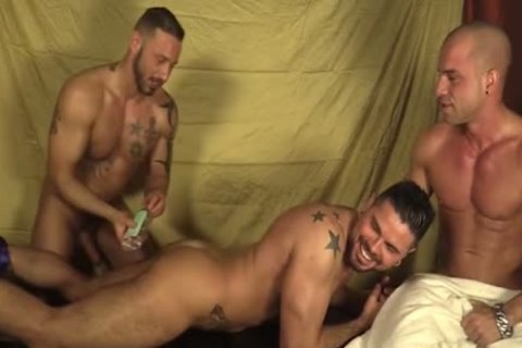 threesome Oil Massage