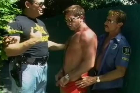 Two lustful Cops acquire A lad On His Knees To suck penis
