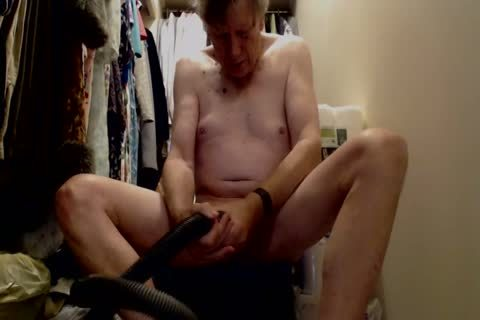 daddy chap fun With Vacuum Cleaner