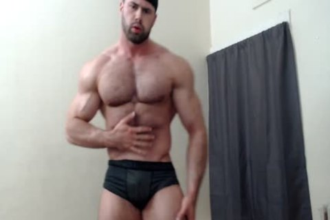 hairy Chest Muscle Worship