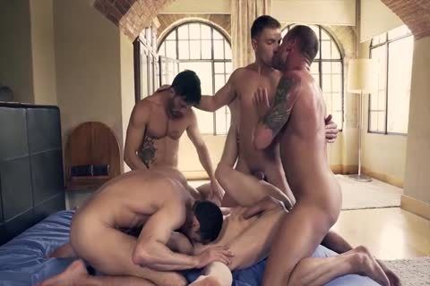 giant Muscled And Tattooed homosexual males Likes butthole sex