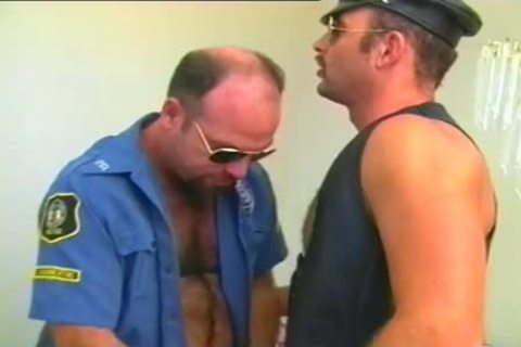 wild Cop Has A Fetish For Leather And Hard cocks
