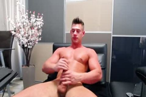 Flirt4Free - Aiden Kay - kinky Blue Eyed College guy Jerks His biggest dick