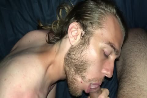 DOUBLE spunk flow On My husband With Facial And sperm swallow In bed