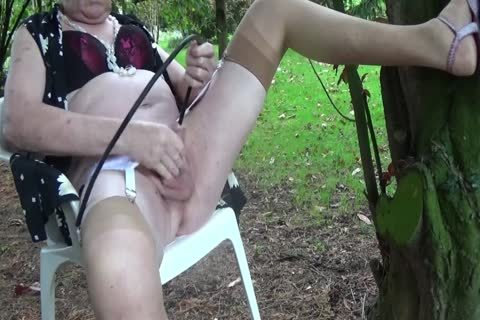 ladyboy Outdoor Transvestite underware Nylon Sounding Urethra
