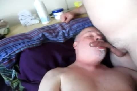 dom master pound's Pig's Face And Feeds Him Well.