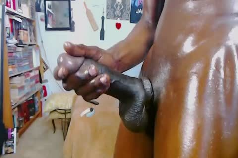 black gay lad With Monster 10-Pounder - Oil Jerkoff And large cum