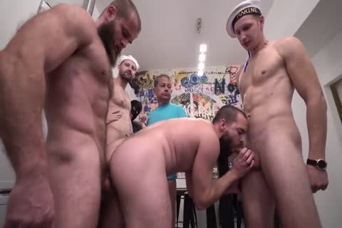thirty men goo Party Scene three