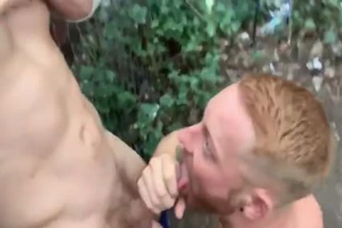 Two Brit boys Have Sex In Woods Third guy Joins In