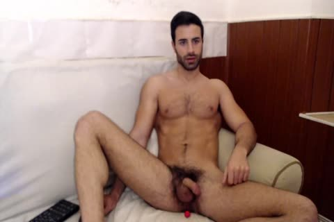 naughty Spanish twink With worthwhile Body Stroking His knob Until sperm