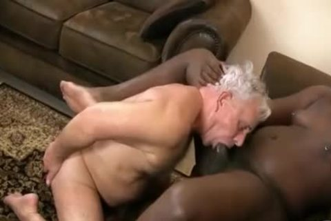 grandpa And dark fellow engulf & nail Each Other