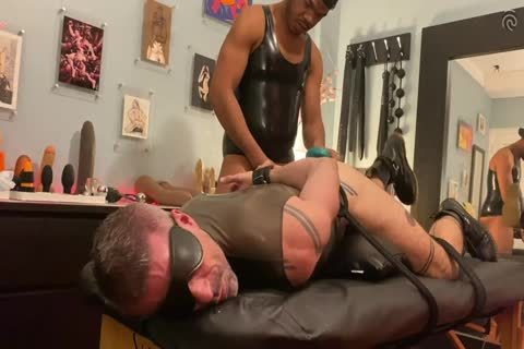 Ryan Spade & beauty Russo - bound In Latex