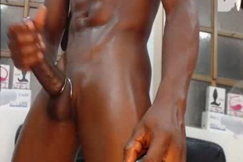 recent Shave  black lad Jamal With His really large cock