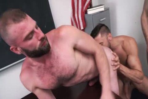 Pervy Professor Acquires His Arsehole nailed By His Much Loved Student And His Stepdad