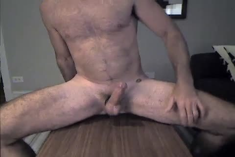 shaggy Daddy Rides A fake penis And Cums two