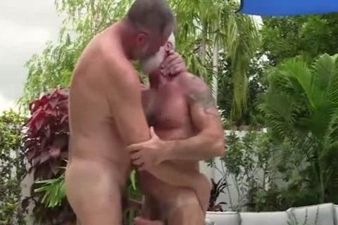 Silver Daddies Playing At The Pool