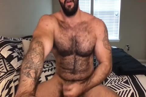 Furry Muscle Jerks And Cums On cam