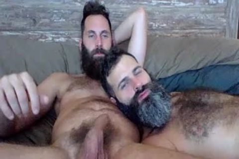 2 Bearded men pounding On Live