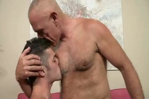 Bald Silver Daddy And avid Bottom Lad