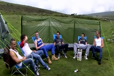 wank Party outside Camp