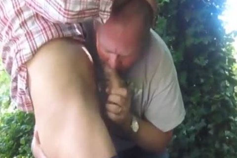 fine Married dad Cruising In The Woods