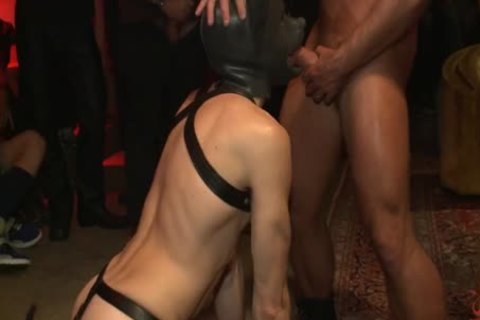 tied Up And poked In Front Of 100 lustful males