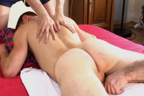 1rst Time In Porn, Straight Next Door boy gets Massages By two boyz !!!