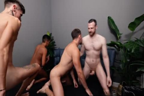 wild Foursome, suck job, wild fucking, Double butthole Penetration