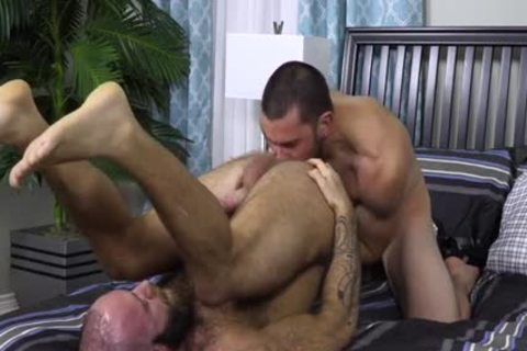 hairy Teddy Bear nailing monstrous Cocked Hunk