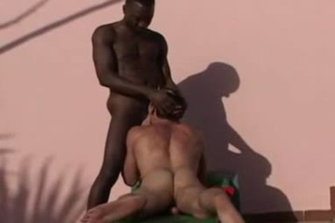 Interracial - darksome and White, good poke