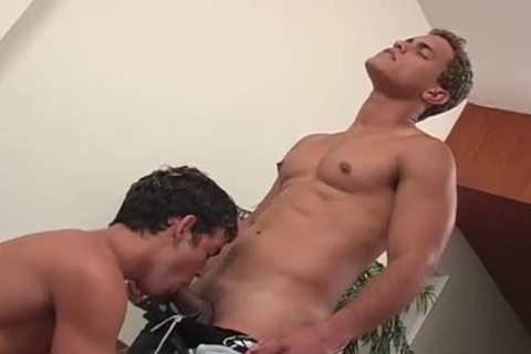 two buddies group sex each other on the daybed